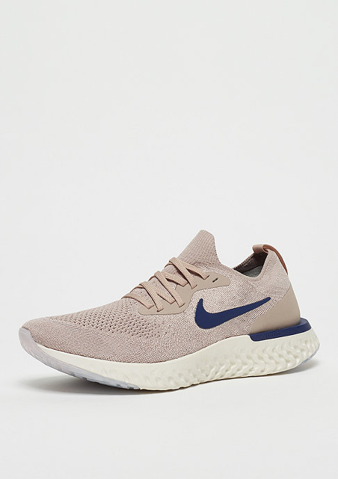NIKE Running Epic React Flyknit diffused taupe/blue void/phantom