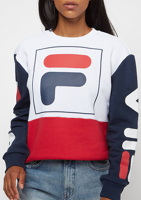 Fila FILA Urban Line Date Crew Sweat 2.0 BriWhi-TrueRed-BlacIris