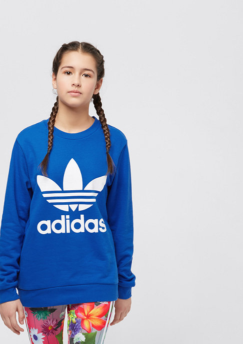 adidas Junior Trefoil Crew blue/white