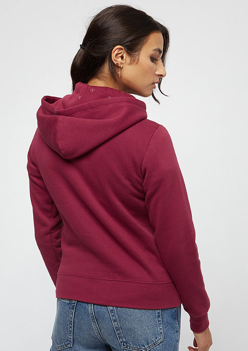 Champion American Classics Hooded Zip bordeaux