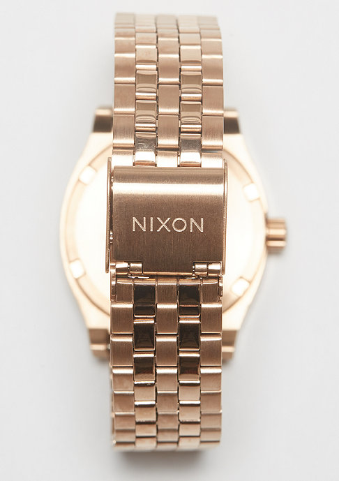 Nixon Medium Time Teller rose gold/indigo/black