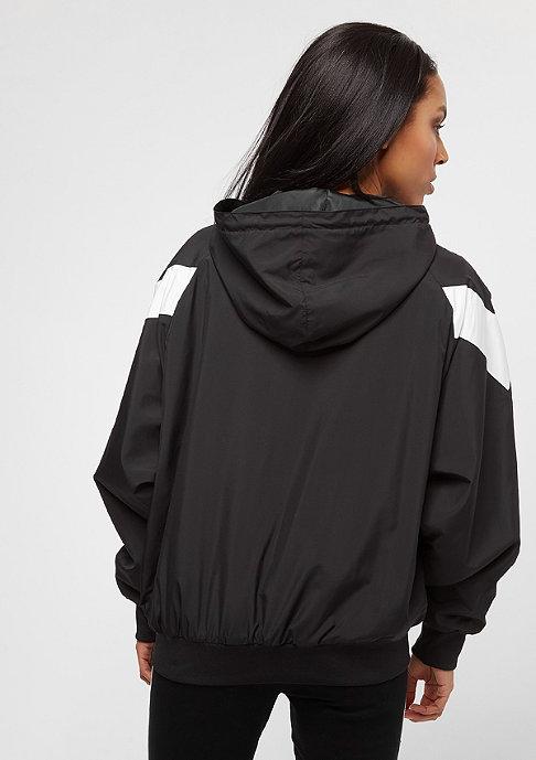 SNIPES Hooded Chest Logo black/white