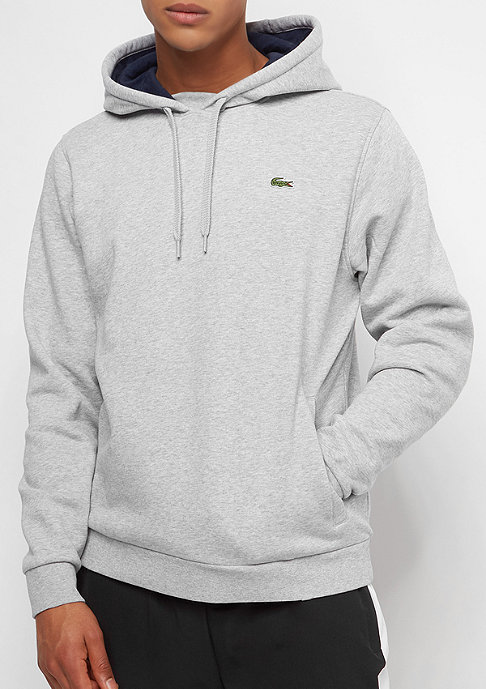 Lacoste Hoody Sweatshirt silver chine/navy blue