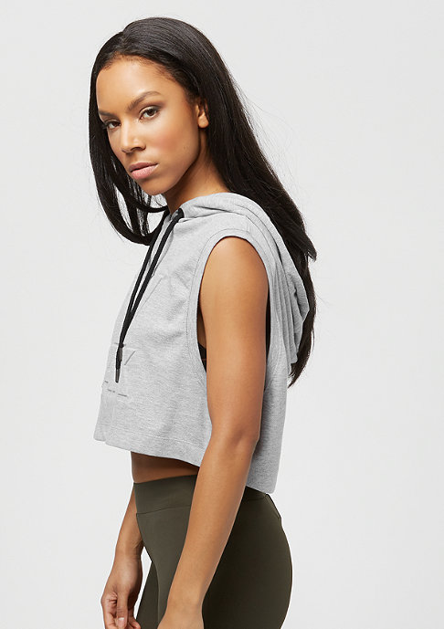 IVY PARK Crop Embossed Logo grey marl