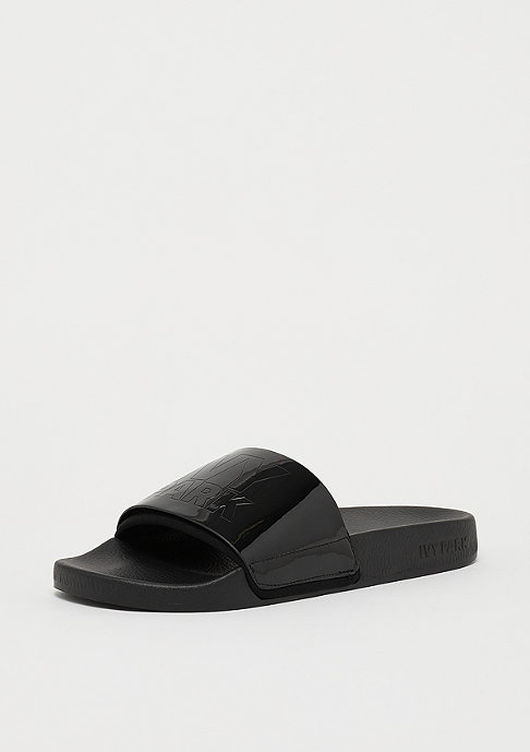 IVY PARK HI SHINE SMBOSSED LOGO SLIDER Black
