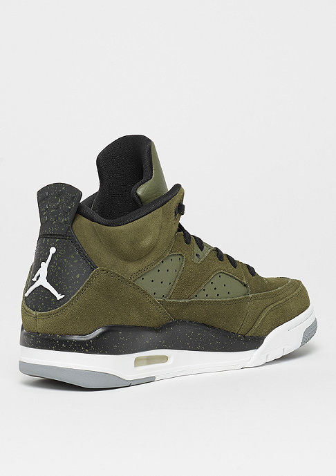JORDAN Son of Mars Low olive canvas/black/white