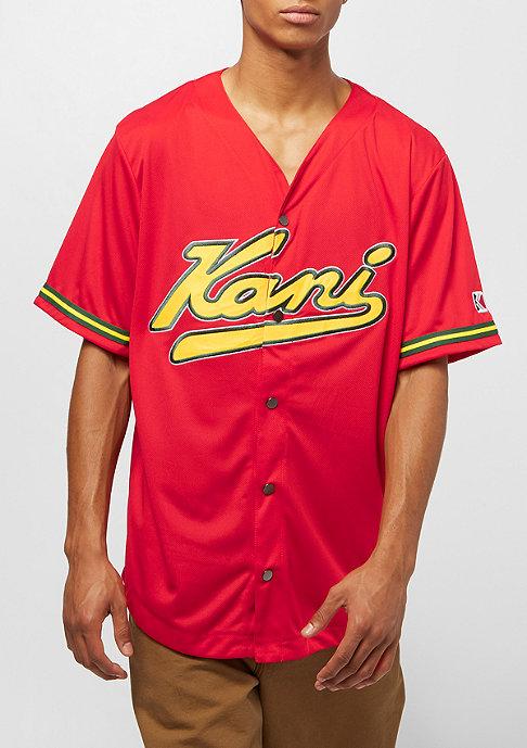 Karl Kani College Baseball Shirt red yellow