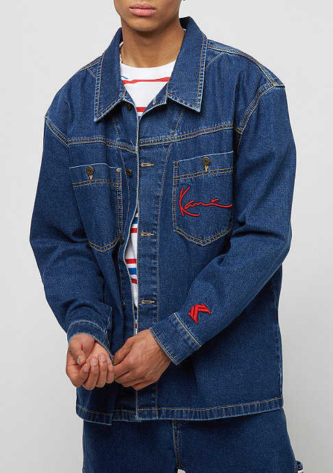 Karl Kani Karl Kani x Snipes Denim Shirt Jacket blue