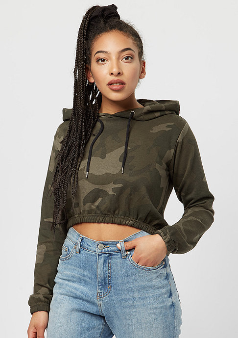 Urban Classics Ladies Camo Cropped olive camo