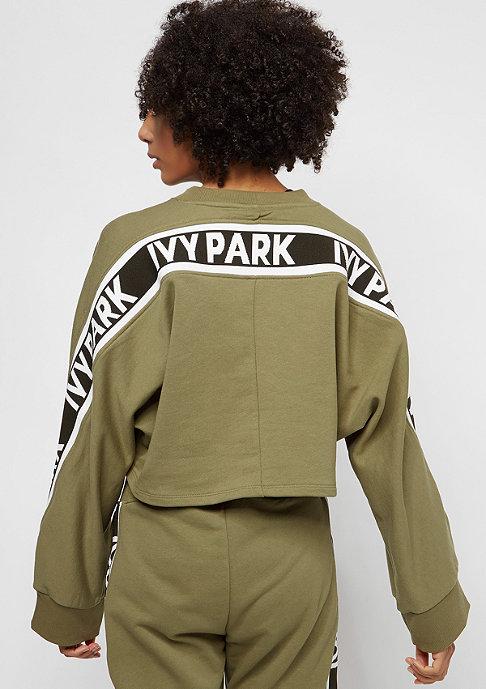 IVY PARK Logo Tape Crop Crew dark green