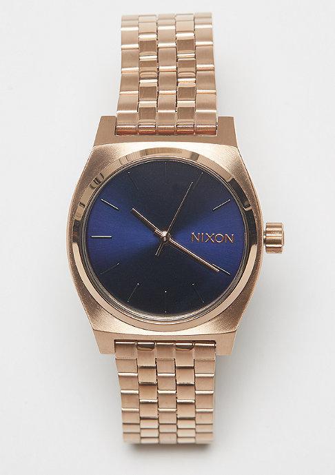 Nixon Medium Time Teller rose gold/indigo/black