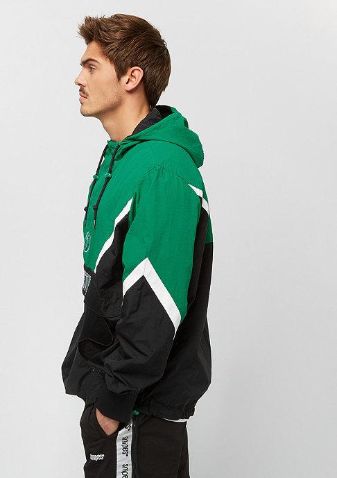 Mitchell & Ness Half Zip Boston Celtics black/green