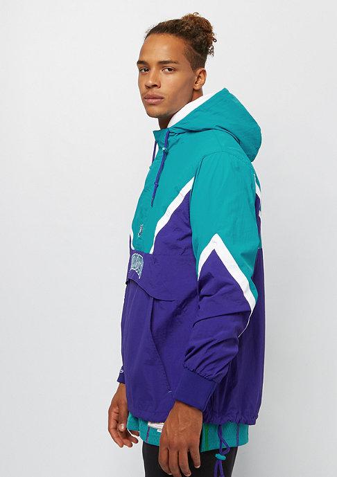 Mitchell & Ness NBA Charlotte Hornets Half Zip blue/teal
