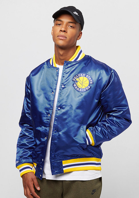 Mitchell & Ness NBA Satin Golden State Warriors royal