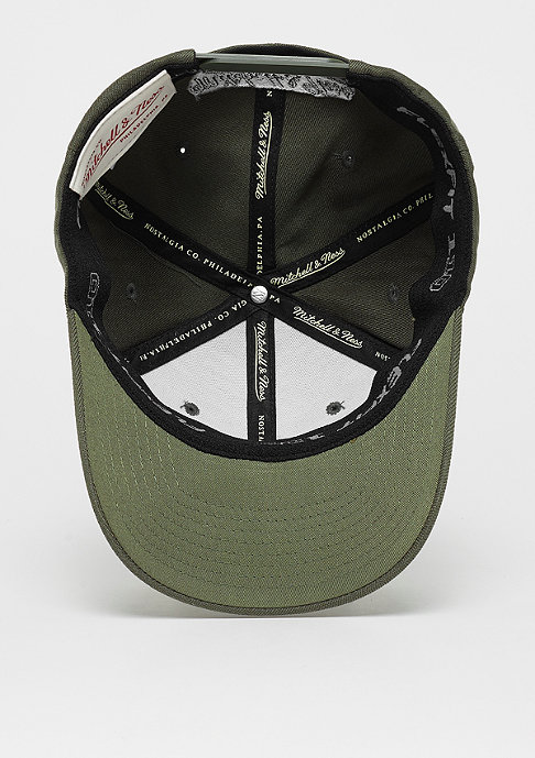 Mitchell & Ness OB Visor Sticker The Olive&Black 2Tone Logo 110 olive