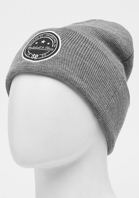 Mitchell & Ness Patch Cuff Knit grey marl