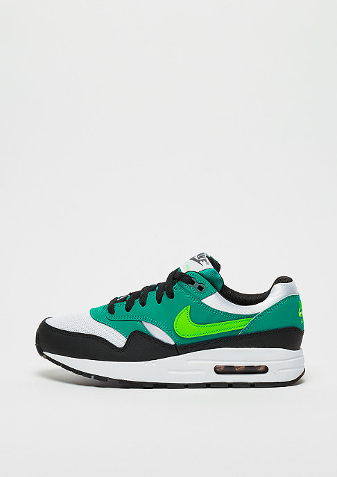 NIKE Air Max 1 (GS) white/green strike-neptune green-black