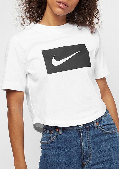 NIKE Crop Swoosh white/black