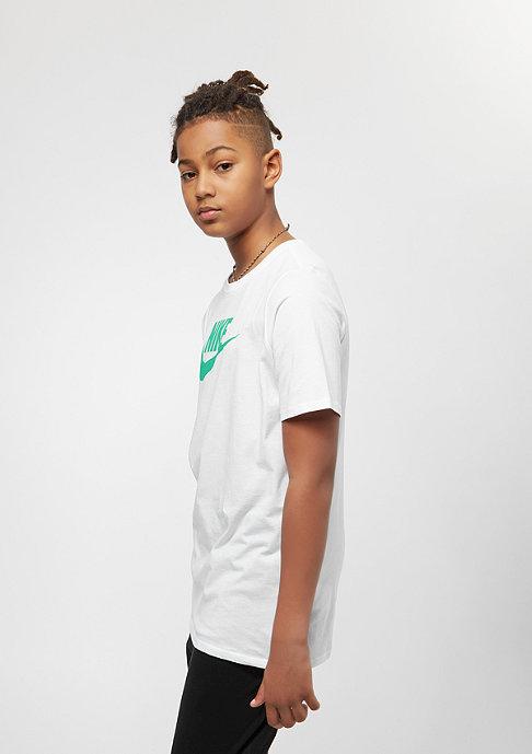 NIKE Junior Futura Icon white/kinetic green