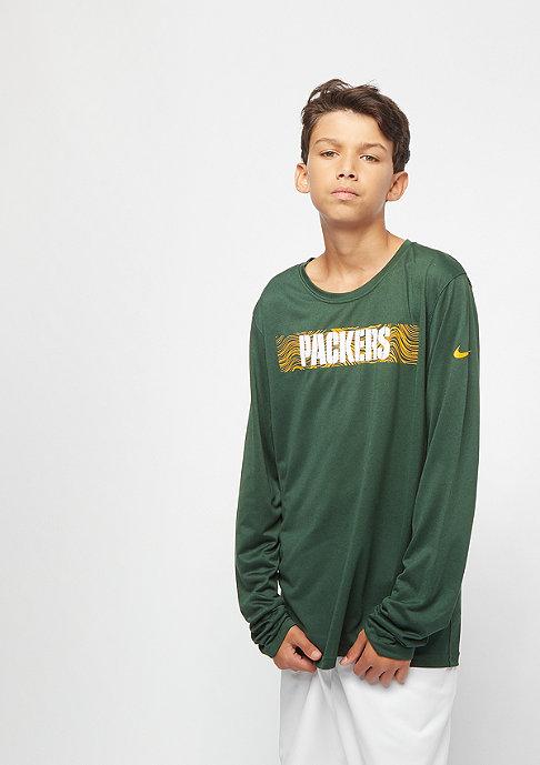 NIKE Kids Onfield Seismic NFL Green Bay Packers green