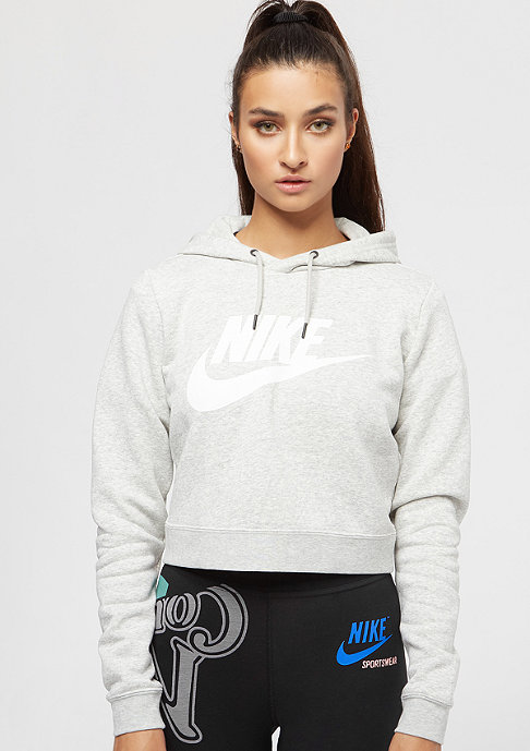 NIKE Rally Crop grey heather/pale grey/white