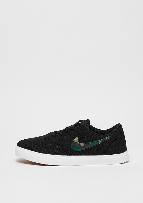 NIKE SB Check Canvas (GS) black/medium olive-pro green