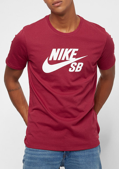 NIKE SB Logo red crush/white