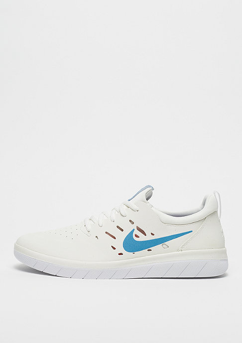 NIKE SB Nyjah Free summit white/blue fury/solar red