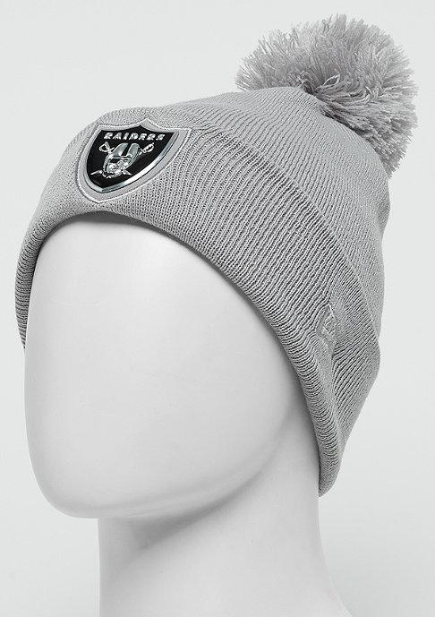 New Era Logo Shine Bobble NFL Oakland Raiders grey
