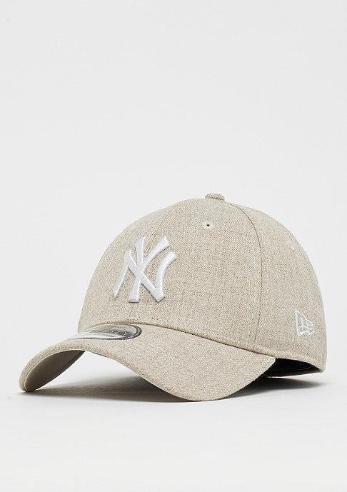 New Era 39Thirty MLB New York Yankees Heather 3930 oatmeal/white