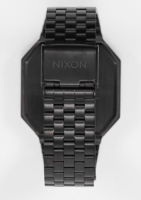 Nixon Uhr Re-Run all black