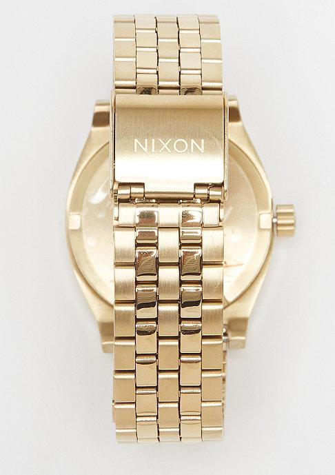 Nixon Medium Time Teller all light gold/cobalt