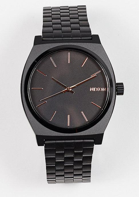Nixon Uhr Time Teller all black/rose gold