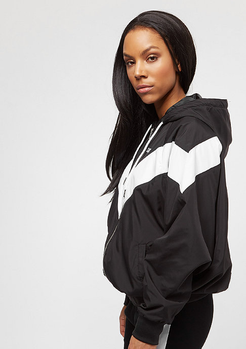 SNIPES Hooded Chest Logo black/white