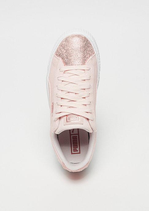 Puma Basket Platform Canvas pearl-rose gold