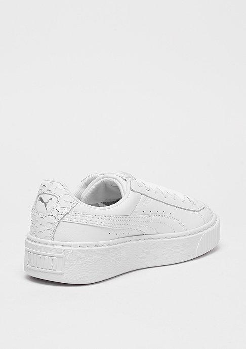 Puma Basket Platform Ocean puma white-puma silver-puma white