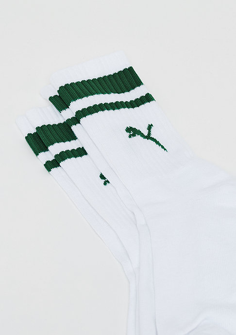 Puma Heritage Crew Stripe 2P white/green