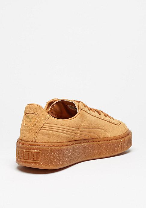 Puma Schuh Suede Platform Speckle bisquit gum gold