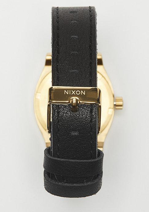 Nixon Medium Time Teller Leather gold/black
