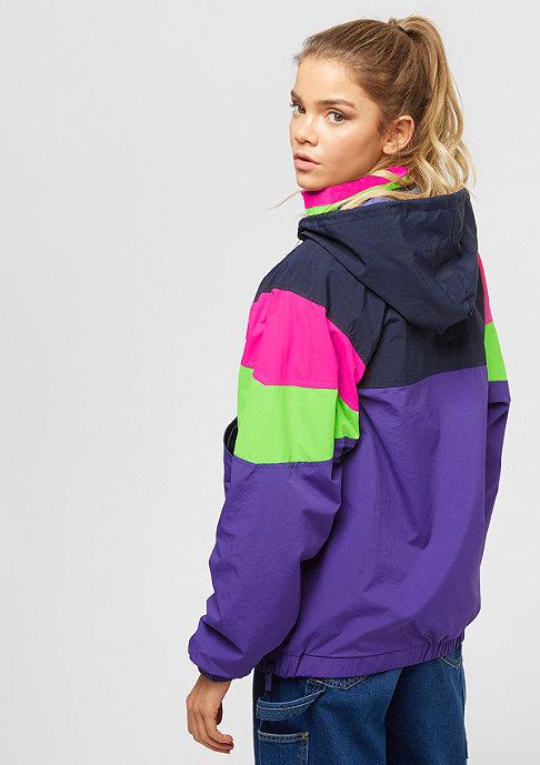 Karl Kani Retro  Block Windbreaker purple/pink/green