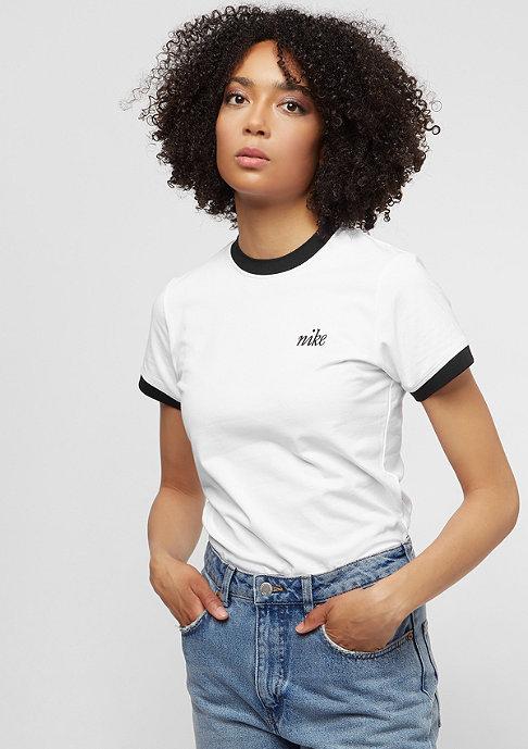 NIKE Ringer Top white/black/black