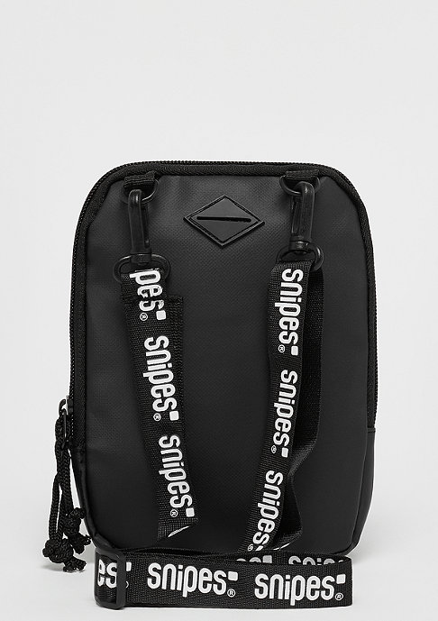 SNIPES Rubber Patch Cross Bag black