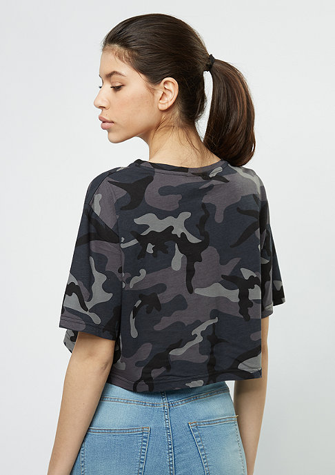 SNIPES T-Shirt Block AOP camo/white/silver pink