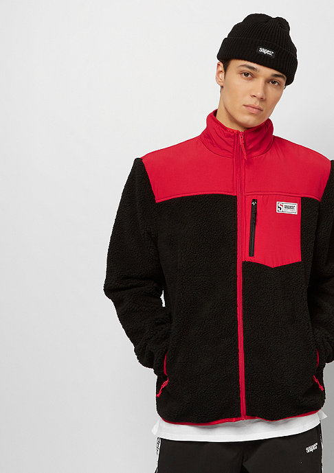 SNIPES Block Fleece black/red