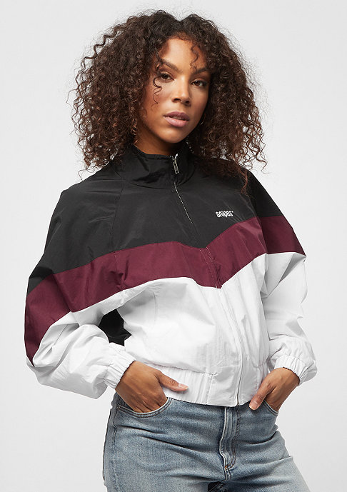 SNIPES Block Trackjacket black/white/rhododendron