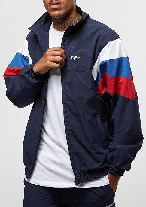 SNIPES Block Trackjacket navy/white/red