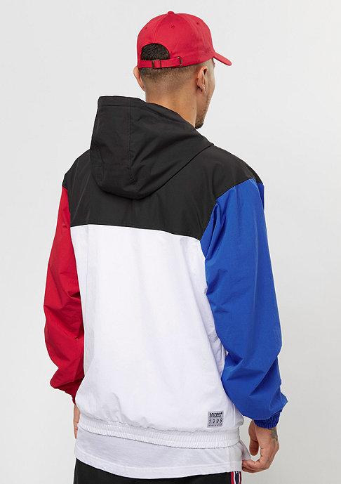 SNIPES Block Windrunner black/white/red/light blue