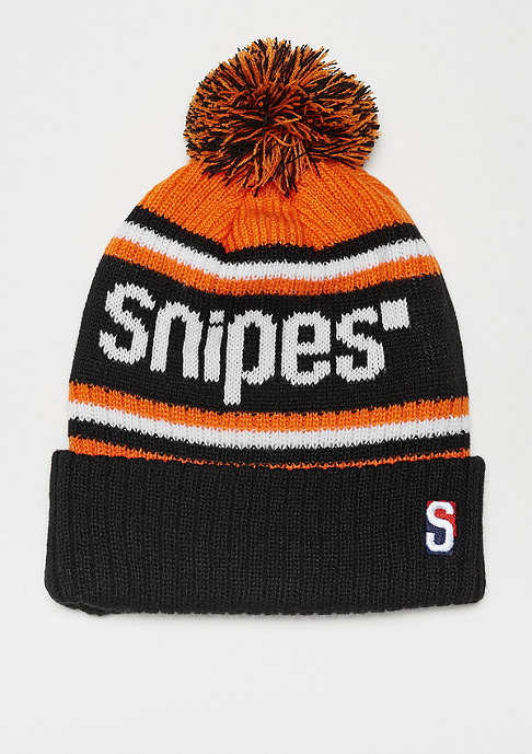 SNIPES Bobble Beanie orange/black