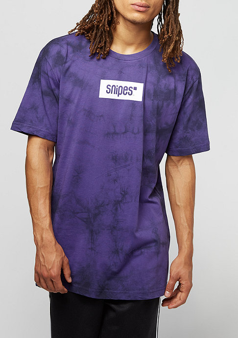 SNIPES Box Logo Batik purple/black