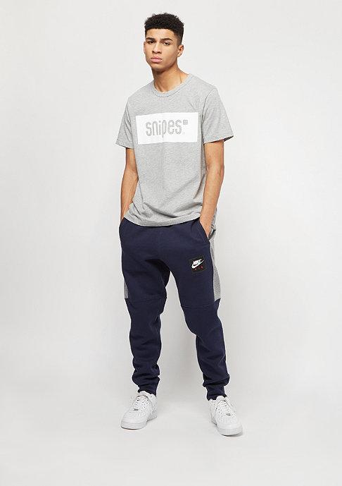 SNIPES Box Logo heather grey/white